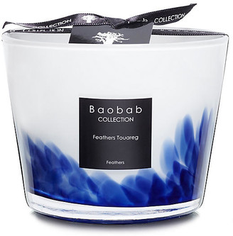 Baobab Collection Feathers Touareg Candle - Mint & Jasmine blue/white