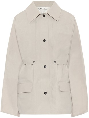 Kassl Editions Cape coated cotton jacket