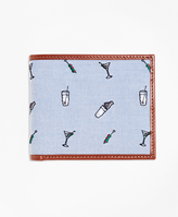 Brooks Brothers Martini Embroidered Wallet