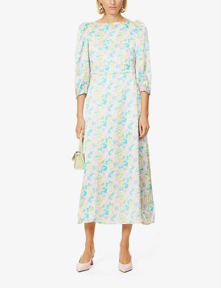 Olivia Rubin Lara floral-print silk midi dress