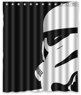 "Star War Stormtroopers Pattern Custom Waterproof Polyester Fabric Bathroom Shower Curtain with 12 Hooks 60""(w) x 72""(h)- Bathroom Decor"
