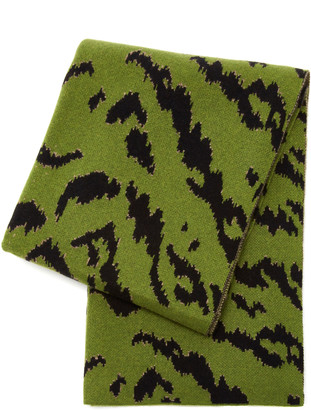 Saved NY Calabria Animal-Print Cashmere Throw