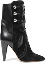 Isabel Marant Liv suede and leather ankle boots