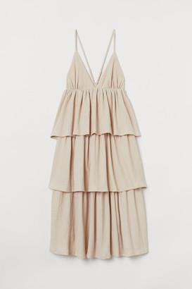 H&M Tiered V-neck Dress