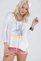 Chaser LA Jimmy Cliff Rebel in Me L/S Boxy Flow Tee in Cream