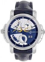 excellent (EX) Ulysse Nardin Sonata Dual Time 18k White Gold Men's Watch 660-88/213