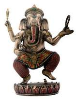 Summit Dancing Ganesha on Lotus Collectible Hinduism Sculpture