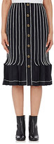 Thom Browne Women's Wool-Mohair Pleated Skirt-NAVY