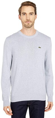 Lacoste Long Sleeve Crew Neck Sweater (Black) Men's Clothing