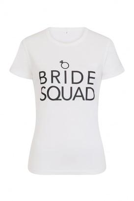 Ginger Ray 'Bride Squad' White T-Shirt