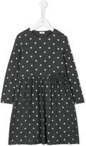 Il Gufo glitter polka dot dress