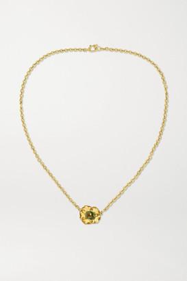 Irene Neuwirth Tropical Flower 18-karat Gold Tourmaline Necklace - one size
