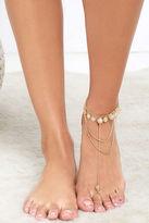 LuLu*s Step Lightly Gold Foot Bracelet