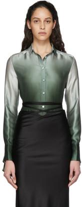 CHRISTOPHER ESBER Green Button-Up Slim Shirt