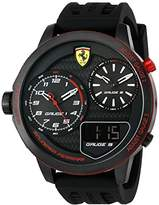 Ferrari Scuderia Men's 'XX Kers' Quartz Stainless Steel and Silicone Casual Watch, Color:Black (Model: 0830318)