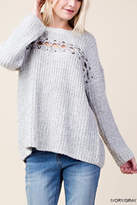 Blu Heaven Lace Across Sweater