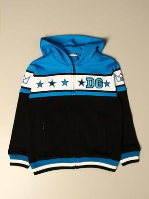 Dolce & Gabbana Dolce Gabbana Sweatshirt With Zip And Logo