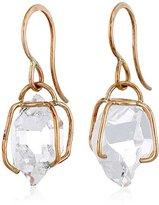 "Melissa Joy Manning New Elements"" 14k Gold Large Herkimer Imitation Diamond Earrings"