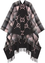 Gucci reversible GG poncho coat