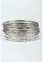 Rhinestone And Metal Bangle Set