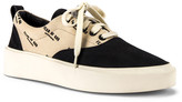 Fear Of God 101 Lace Up Sneaker in Black & Creme Logo Print | FWRD