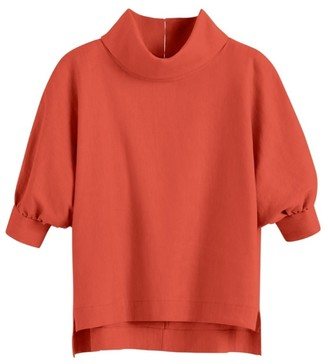 Cuyana Linen Dolman Sleeve Top