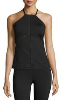 Michi Barre Racerback Performance Tank Top, Black