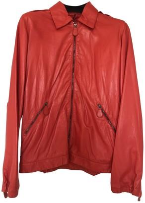 Bottega Veneta Red Leather Jacket for Women