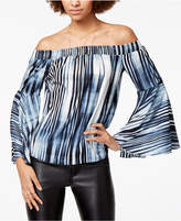 Bar III Off-The-Shoulder Printed Top, Created for Macy's