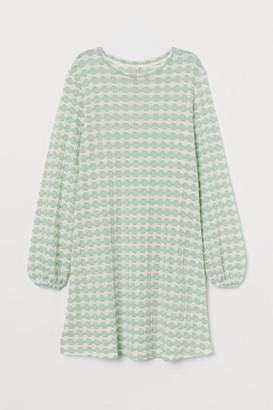 H&M Textured-knit Dress - Green