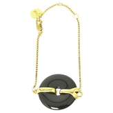 Saint Laurent Gold Metal Bracelet
