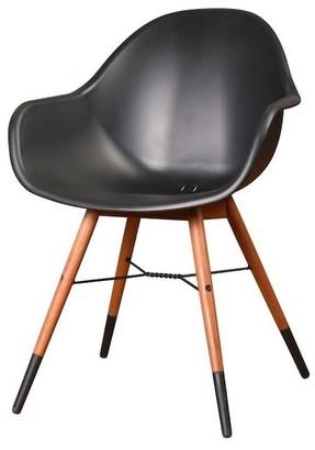 International Home Miami Amazonia Charlotte 4-Piece Patio Armchair Set Deluxe Outdoor Furniture, Black