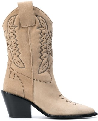 Zadig & Voltaire Western-Style High-Ankle Boots