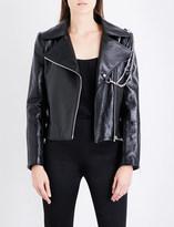 Lanvin Double chain-detail leather jacket