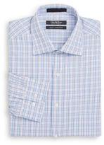 Saks Fifth Avenue Slim-Fit Plaid Check Cotton Dress Shirt