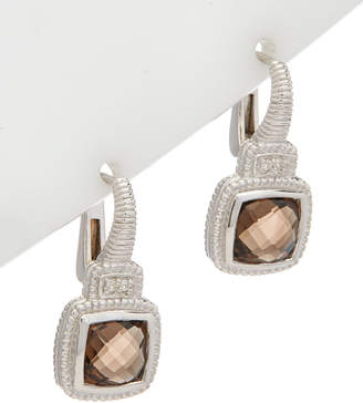 Judith Ripka La Petite Silver 2.23 Ct. Tw. Smokey Quartz Earrings