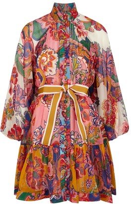 Zimmermann Lovestruck printed cotton-blend mini dress