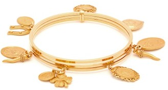 Dolce & Gabbana Charm-embellished Metal Bangle - Gold