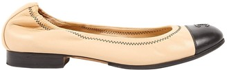 Chanel Beige Leather Ballet flats
