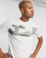Nike Training t-shirt in white with camo blocking