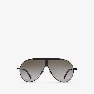 Jimmy Choo Eddy/S (Black) Fashion Sunglasses