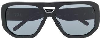 No.21 Black D-frame Sunglasses