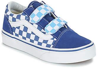 Vans OLD SKOOL V boys's Shoes (Trainers) in Blue