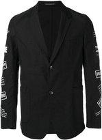 Yohji Yamamoto branded patch sleeve jacket