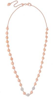 Monica Vinader Nura 18-karat Rose Gold Vermeil Diamond Necklace