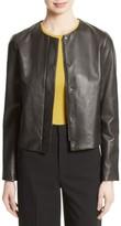 Vince Women's Leather Zip Front Jacket
