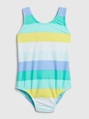 Gap Toddler Stripe Crossback Swim One-Piece