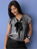 Metallic flutter sleeve top - Metallic