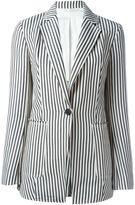 3.1 Phillip Lim striped blazer - women - Cotton/Linen/Flax/Cupro/Viscose - 8