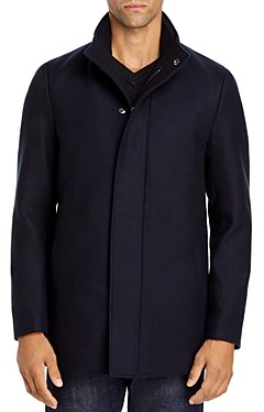 Theory Clarence Traceable Wool Blend Melton Coat